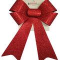 Handmade Holiday Christmas 9\u0027\u0027x16.25\u0027\u0027 Glitter Bow-Red