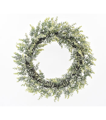 Blooming Holiday Christmas 22'' Frosted Eucalyptus Wreath