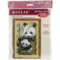 Panda With Young Counted Cross Stitch Kit-8.75\u0022X15\u0022 10 Count