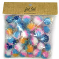 Fab Lab Craft 45 pk 25 mm Tinsel Pom Poms