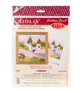 RIOLIS Combopu Cama 4.75\u0027\u0027x4.75\u0027\u0027 Long Stitch Embroidery Kit-Pink Garden