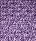 Keepsake Calico Cotton Fabric-Glitter Purple Flowers