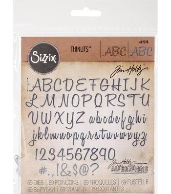 Sizzix Tim Holtz Thinlits Dies-Alphanumeric Script