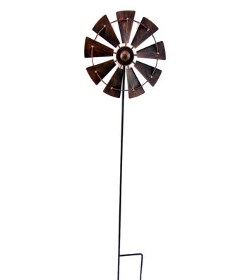 Hello Spring Gardening Windmill Kinetic Yard Stake
