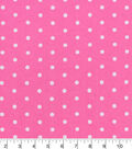 Snuggle Flannel Fabric -Dots on Pink Carnation