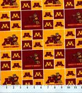 University of Minnesota Gophers Cotton Fabric 43\u0022-Block