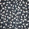 Silky Print Textured Fabric-All Over Cat