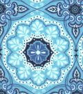 Snuggle Flannel Fabric -Peacock Medallion