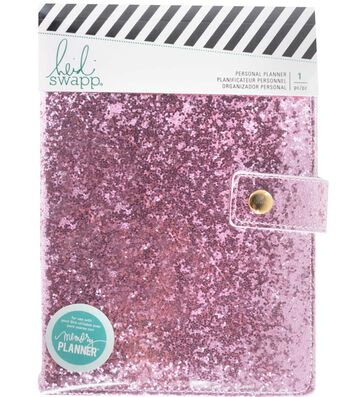 Heidi Swapp Fresh Start Personal Memory Planner-Pink Glitter