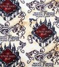 Harry Potter Fleece Fabric-Marauders Map Simplified