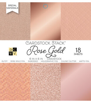 Park Lane 18 Pack 6''x6'' Cardstock Stack-Rose Gold