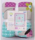 No Sew Fleece Throw 48\u0022-Sweet Baby Elephant