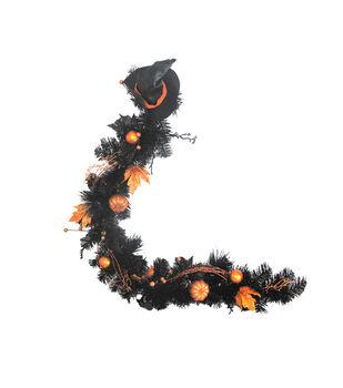Maker's Halloween 60'' Garland-Black & Orange
