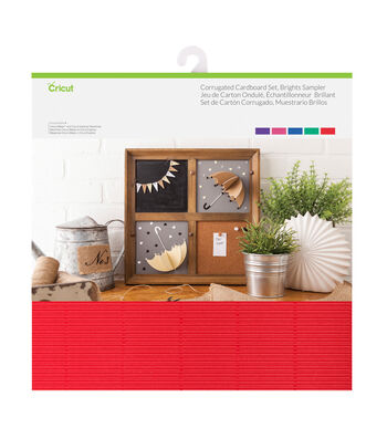 Cricut 20 pk 12''x12'' Corrugated Cardboards-Brights