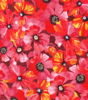 Keepsake Calico Cotton Fabric-Poppy Toss Red