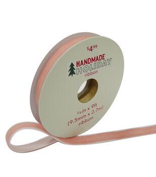 Handmade Holiday Christmas Velvet Ribbon 3/8''x9'-Rose