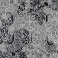 Silky Chiffon Fabric-Gray & Black Regal