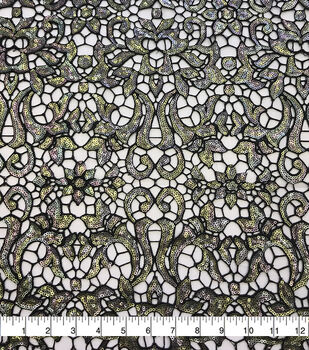 Casa Dahlia Sequin Embroidered Fabric-Multi