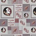 Florida State University Seminoles Fleece Fabric -Gray Block