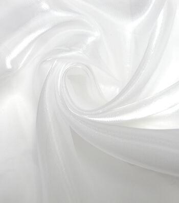 Glitterbug Shimmer Organza Fabric 58''-White