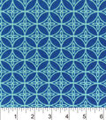 Snuggle Flannel Fabric 42\u0022-Navy Aqua Geo