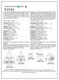 Mccall Pattern V8783 All Sizes -Vogue Pattern