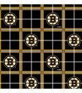 Boston Bruins Flannel Fabric -Plaid