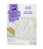 Wilton Decorator Preferred Fondant 24oz-White, , hi-res