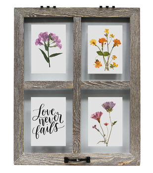Float Photo Frame with 4 Openings 20''x25''-Gray Wash