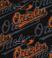 "Baltimore Orioles Fleece Fabric 58""-Packed Logo, , hi-res"