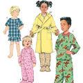 Simplicity Pattern 1572AA Toddlers\u0027 Sleepwear &  Robes-Size 1/2-1-2