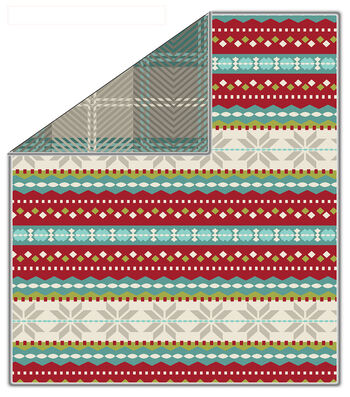 "No-Sew Throw Fleece Fabric 72""-Glander Trailways Peppermint"