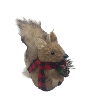 Handmade Holiday Alpine Lodge Squirrel with a Furry Tail Ornament