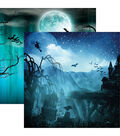 Spooky Night Double-Sided Cardstock 12\u0022X12\u0022-Vampire Bats