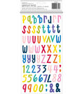 American Crafts Shimelle Box of Crayons Thickers Stickers-Multi Alphabet