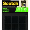 Scotch 12 pk Indoor Square Fasteners-Black