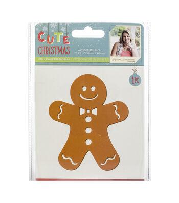 Sara Davies Signature Cute Christmas Metal Die-Jolly Gingerbread Man