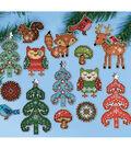Woodland Friends Ornaments Plastic Canvas Kit 1\u0022 To 4\u0022 Set Of 15