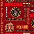 Firefighter Fleece Fabric-Red Heather