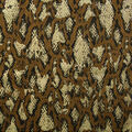 Faux Suede Stretch Fabric-Brown Snakeskin Print