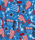 Patriotic Cotton Fabric -Boot and Flag