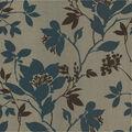 Carina Aqua Silhouette Floral Wallpaper Sample