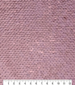 Casa Embellish Sequin Fabric-Rosegold