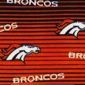 Denver Broncos Fleece Fabric -Linear