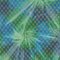 Legacy Studio Batik Fabric -Metallic Diamond on Green & Blue