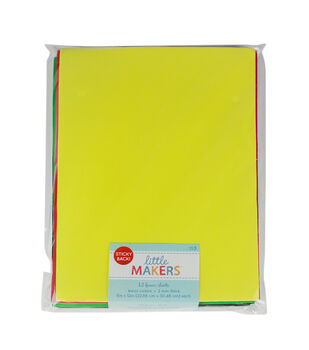 Little Makers 9X12'' Sticky Back Foam Value Pack-Primary