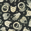 Halloween Cotton Fabric-Mystical Halloween on Black