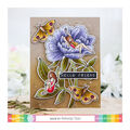 Waffle Flower Crafts Clear Stamp 5\u0027\u0027X7\u0027\u0027-Peony Dreams