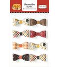 Carta Bella Hello Fall 8 pk 2.13\u0027\u0027x1\u0027\u0027 Decorative Patterned Bows