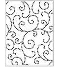 Background Embossing Folder 4.2\u0022X5.7\u0022-Gem Swirl